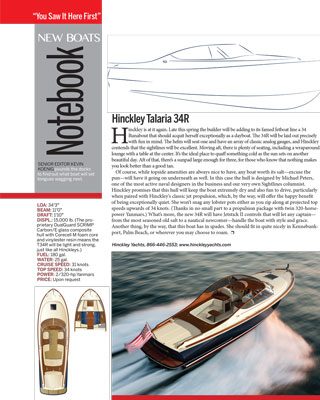Talaria 34 Runabout Featured in Power & Motoryacht Magazine March 2016 Issue