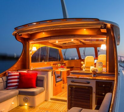"""Precision, Comfort, & Style…"" Chesapeake Bay Magazine's Review of the Talaria 43"