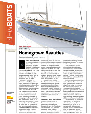 Bermuda 50 featured in February 2014 issue of Sail Magazine