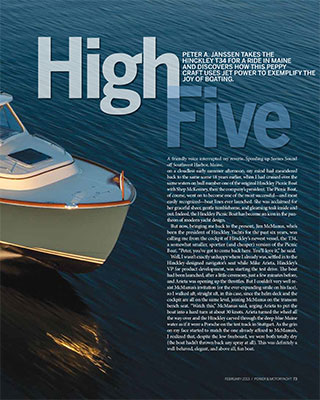 Hinckley T34 Featured in Power & Motoryacht Magazine