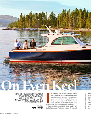 On Even Keel | The Estimable Hinckley Yard has a New Boat with a Classic Look, New Orders, and a Plan for Prosperity.