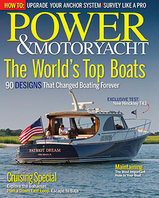 The New Talaria 43 Featured on the cover of Power & Motoryacht Magazine