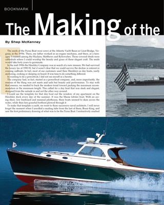 20th Anniversary of the Picnic Boat Featured in Soundings Magazine October 2014 Issue
