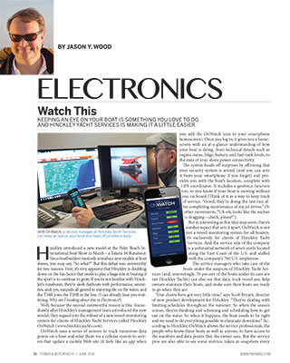 Hinckley OnWatch Featured in Power & Motoryacht Magazine