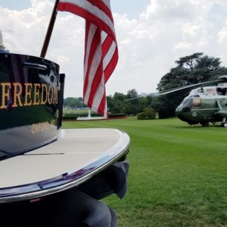 Hinckley Yachts Freedom at the White House for Made in America Day