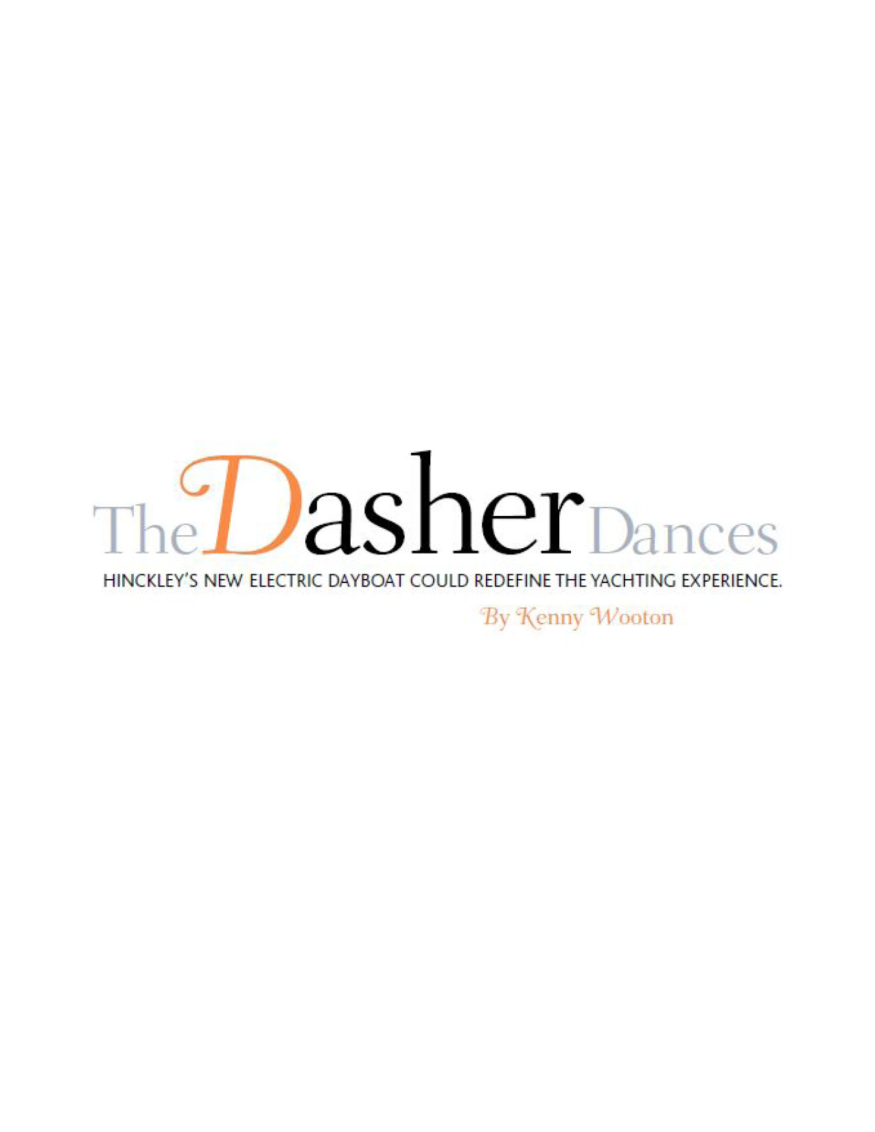 Dasher Featured in Yachts International