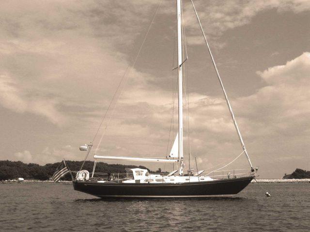 1959 Hinckley's First Fiberglass Boat, a Bermuda 40