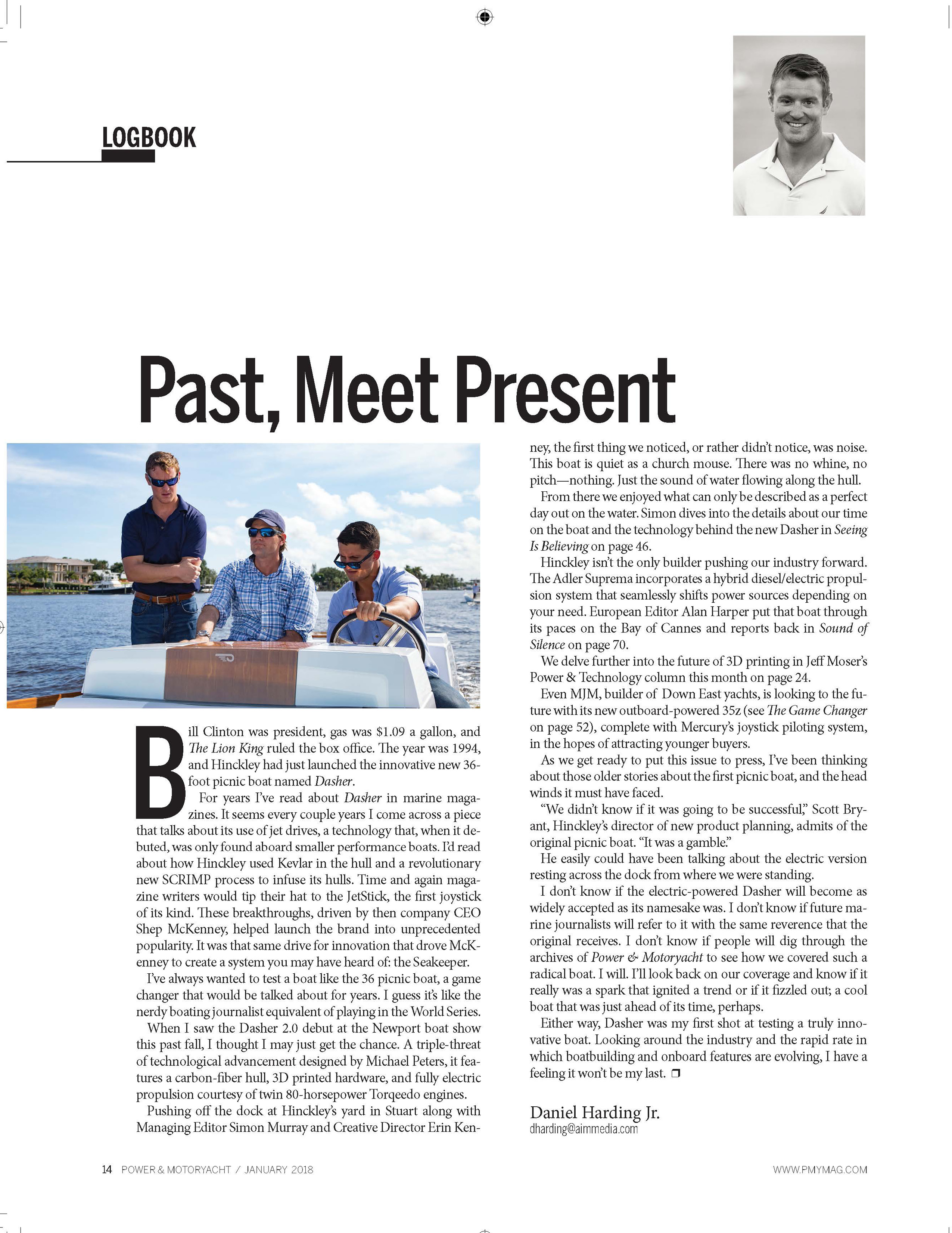 Hinckley in Power & Motoryacht Editor's Note