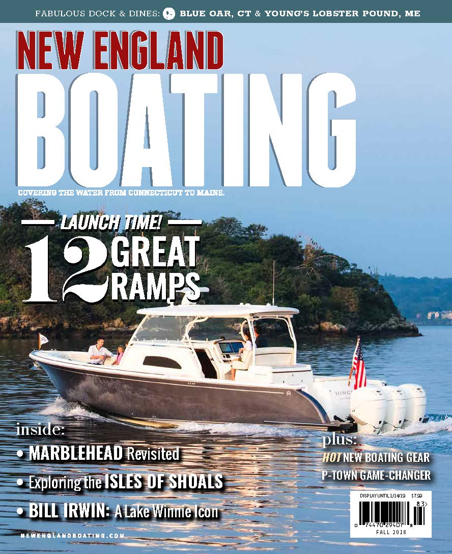 Hinckley Sport Boat 40c on New England Boating Cover