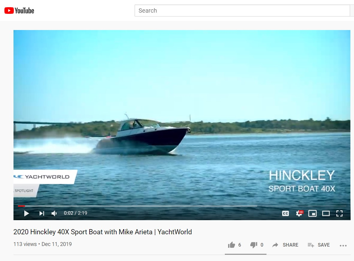 Yachtworld review of Sport Boat 40x