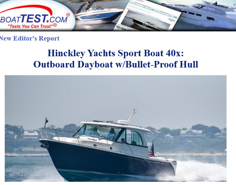 BoatTest.com review of Sport Boat 40x