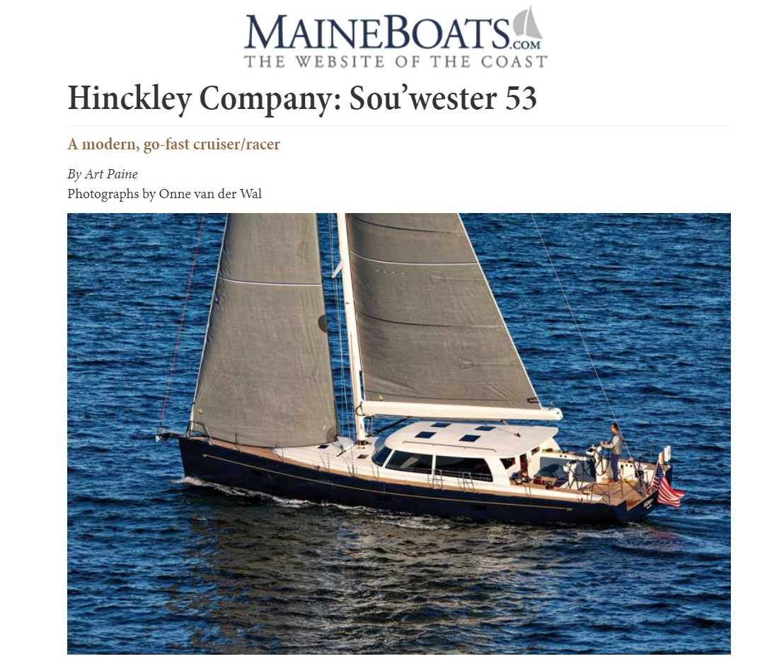 Sou'wester 53 featured in Maine Boats, Homes & Harbors