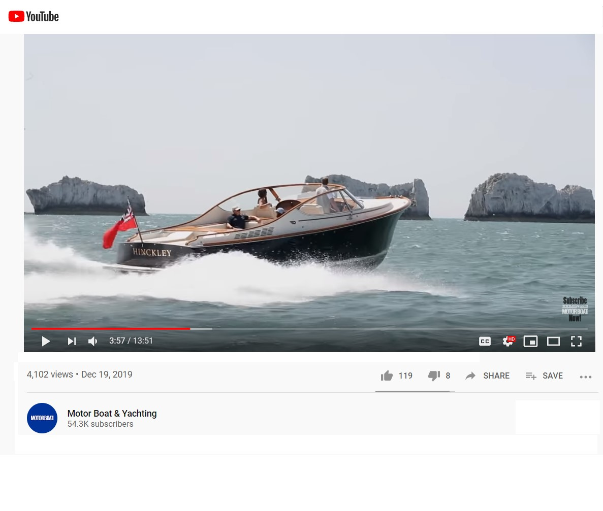 Runabout 34 featured in UK's Motor Boat & Yachting