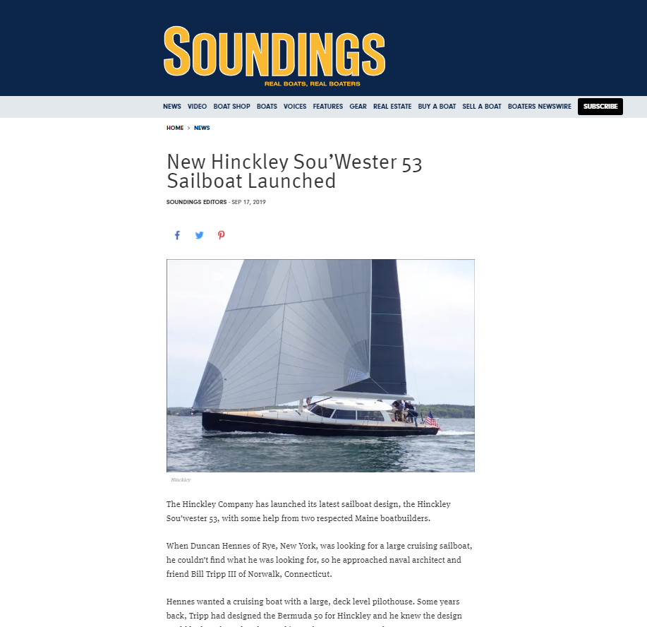 Sou'wester 53 in Soundings