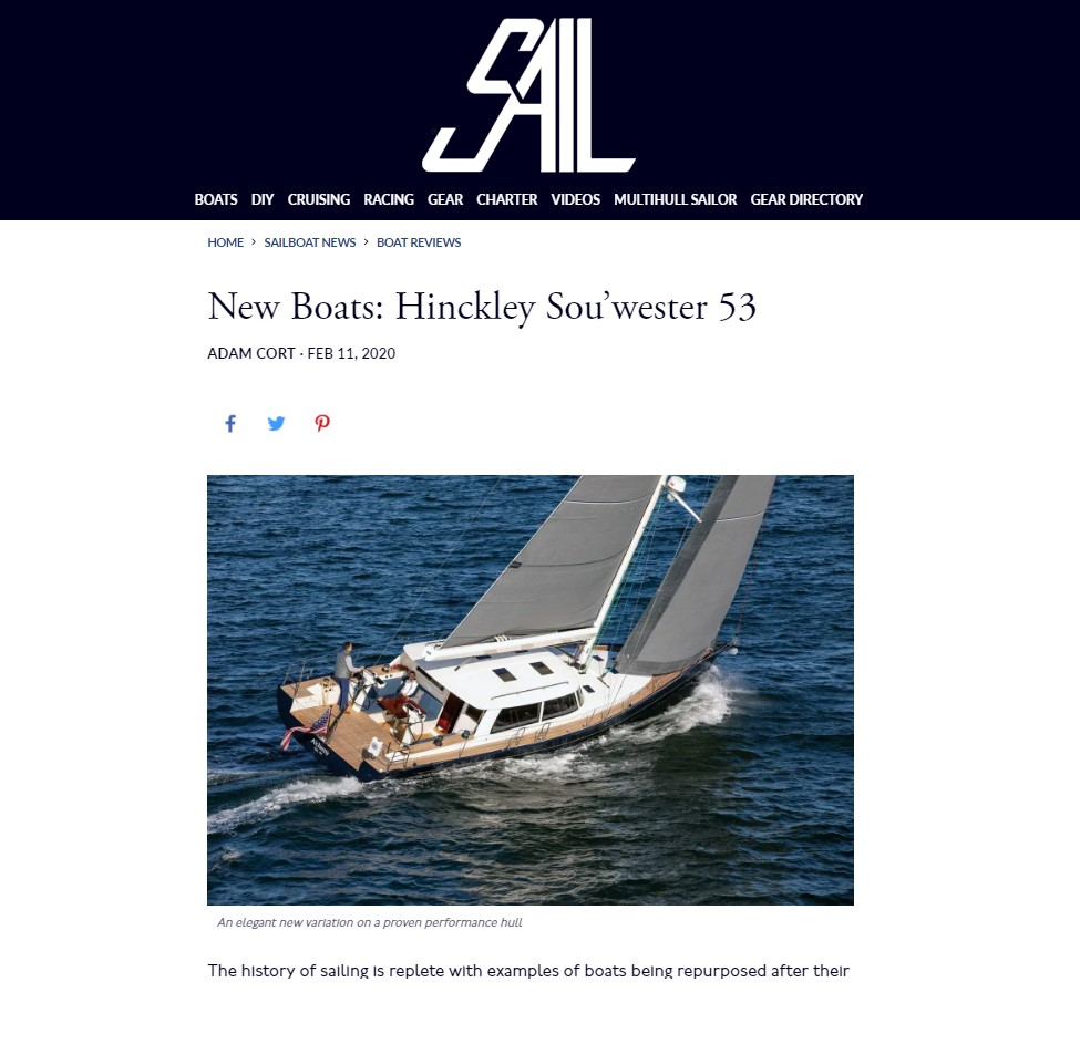 Sou'wester 53 in Sail magazine