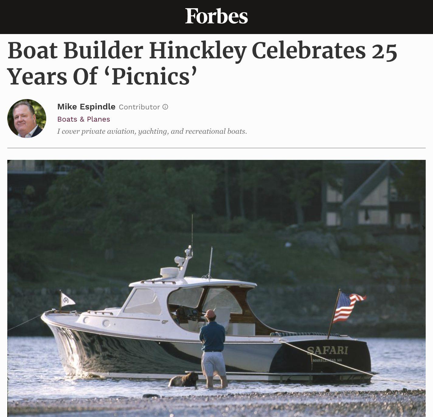Boat Builder Hinckley Celebrates 25 Years Of 'Picnics'