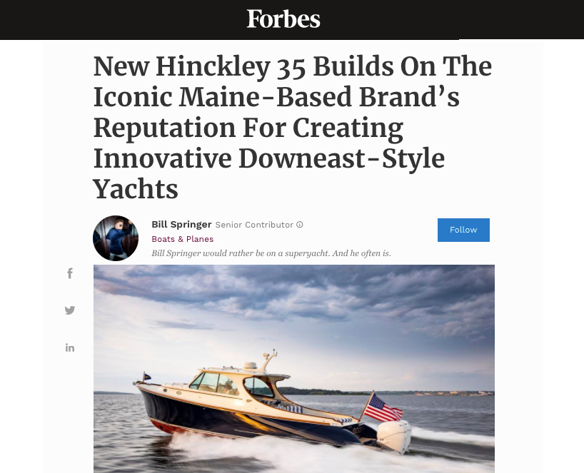 New Hinckley 35 Builds On The Iconic Maine-Based Brand's Reputation For Creating Innovative Downeast-Style Yachts